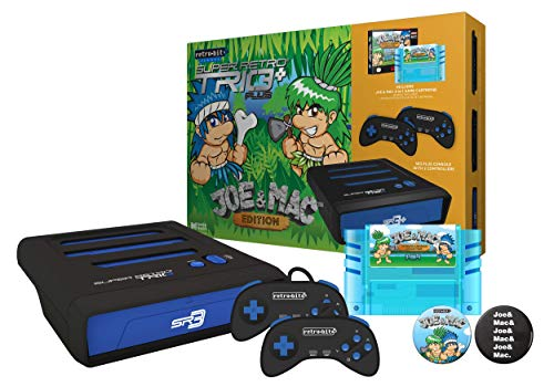 Super Retro Trio Plus HD Royal Blue PAL Joe and Mac Collection Limited Bundle (Electronic Games) [Importación inglesa]