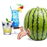 Stainless Steel Watermelon Keg Tap Kit - [Leakproof] [NO Clog] Pumpkin Fruit Keg Tapping with Coring Tool, [Adjust Shank] Watermelon Spigot for Cocktail Party-Ice Tea Drink Dispenser Spout