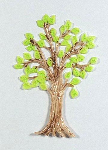 Wachsmotiv Lebensbaum 8 x 6 cm - 9697 - zum verzieren von Kerzen, selbstklebend.