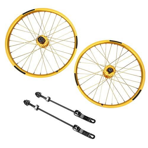 Juego de ruedas de bicicleta, juego de ruedas de bicicleta profesional de 32 agujeros, llantas de ciclismo de alta resistencia para BMX, bicicleta de montaña, bicicleta de carretera, 20 pulgadas 406