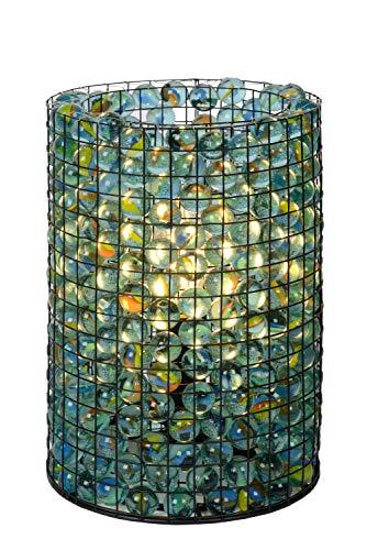 Lucide Lámpara de mesa extravagante Marbelous, diámetro de 15 cm, 1 bombilla E14, transparente