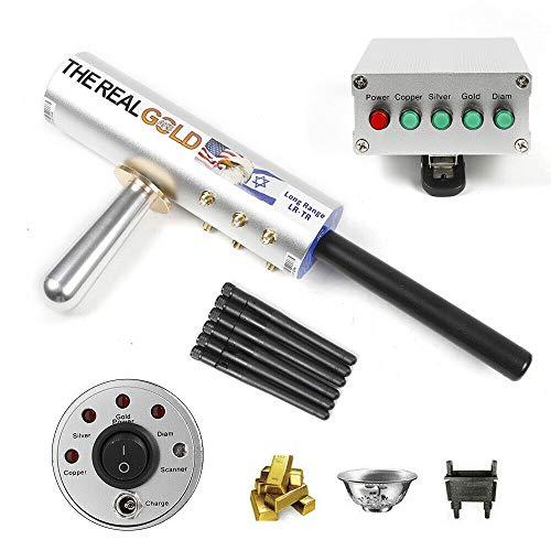 Detector de metales eléctrico sensible y ligero para detectar metales, oro, plata,...