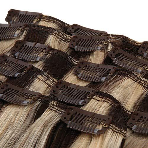 Royal Extension Extensions À Clips Luxury Hair 56 Cm #4/24 Chatain Méché Blond 130g