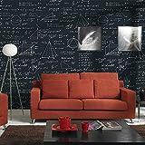 Wallpapering Fond D'écran Tableau Noir Café Géométrie De La Chambre des Enfants De La Personnalité Formule Mathématique Salle À Manger Thème Papier Peint Papier Peint (Color : CN 605)