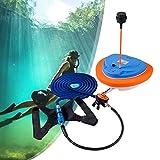 ZhiLianZhao Tanque Pulmón Buceo Portátil, Regulador Respiración Buceo Octopus Hookah, con Bomba de Aire Impermeable, para Deportes Acuáticos, Buceo