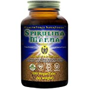 HealthForce SuperFoods Spirulina Manna - 500 Vegan Capsules - All Natural Nutrient Rich Superfood with Vitamins, Minerals, Amino Acids - Organic, Vegan, Gluten Free - 41 Servings