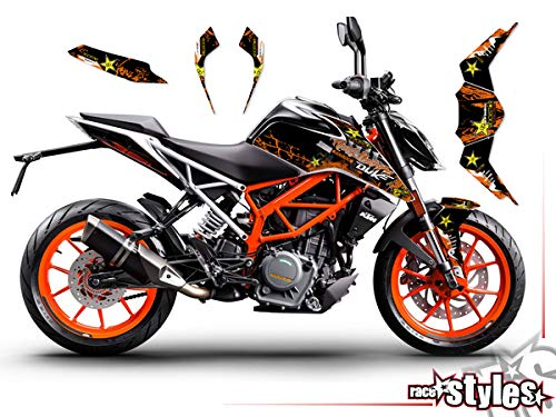 race-styles Aufkleber kompatibel mit KTM Duke 125/390-2017-2020 | orange Decals Graphics (125)