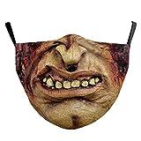 (H) おもしろマスク 面白い 変顔マスク 洗える 布 大人用 Mサイズ モンスター ゾンビ 怪物 皮膚 変装 ハロウィン 仮装 被り物 コスプレ 衣装 パーティーグッズ おもしろ雑貨 人気