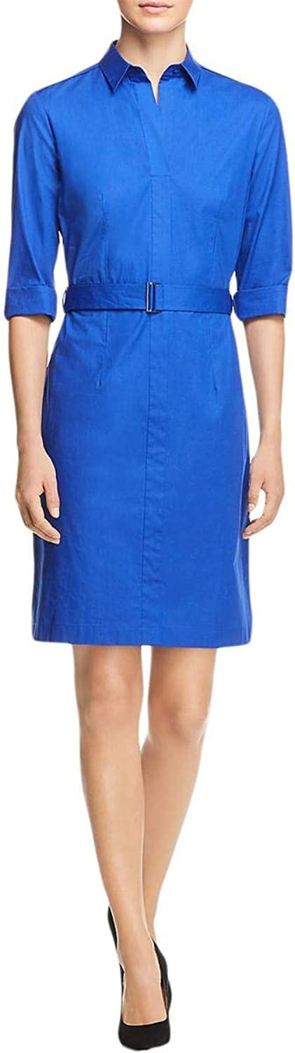 Hugo Boss Womens Dashiri4 Belted Pleated TShirt Dress