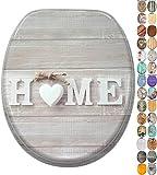 Asiento para inodoro de cierre suave, gran selección de atractivos asientos de inodoro de madera con calidad superior y duradera (Home)