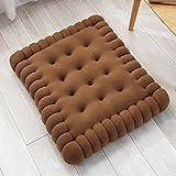 Rechteckige Kissen Dicke warme Kekse Mat Tatami Matten Vier Jahreszeiten Heim Sofa Rücken Pad-2 Größe (Farbe : Deep Coffee, größe : 40x45cm)