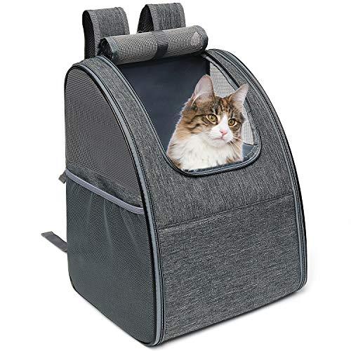 Cosaving Mochila Cat Bag Carrier Mochila Grande y Plegable Cat Carrier Mochila para Mascotas Mochila de Viaje Mochila Plegable portátil para Mascotas Mochila para Mascotas Gris
