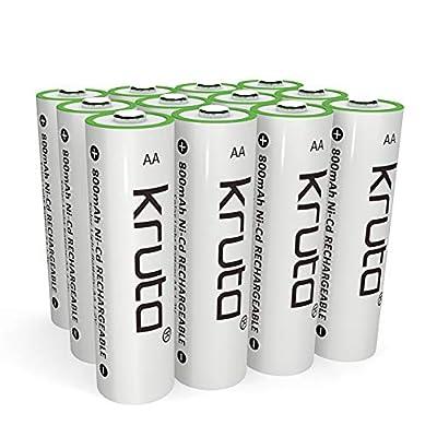 Kruta AA Rechargeable Batteries 800mAh NiCD Rechargeable Solar AA Battery for Solar Lights Solar Lamp(Pack of 12)
