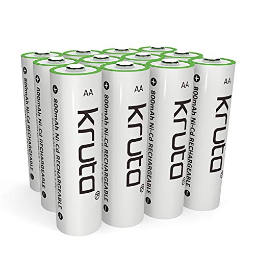 Solar Light Batteries AA Rechargeable Batteries AA Ni-CD 800mAh 1.2V Rechargeable Batteries for Solar Lights Solar Lamp(Pack of 12)