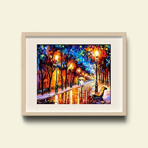 WSNDGWS wooncultuur mooie vuurtoren wooncultuur modern landschap schilderij geen fotolijst 30x40cm A2