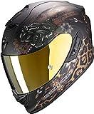 Scorpion Casco de moto EXO-1400 AIR TOA Matt Black-Gold, Negro/Oro, XL