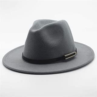 Hat Wool Trilby Hat Cloche Jazz Fascinator Hat Size 56-58CM Men Women Fedora Hat With Belt Wide Brim Church Hat Fashion Hat