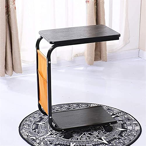WYL C Shaped End Table Sofa Side Table Laptop Table Portable Workstation Stand Desk Coffee Tray Side Table (Color : B)
