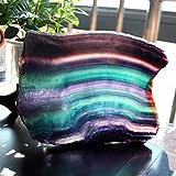 Fluorite naturel cristal coloré fluorite rayé arc-en-ciel de quartz bijoux pierre ornements cristal original pour cadeaux (Color : 250 300g)