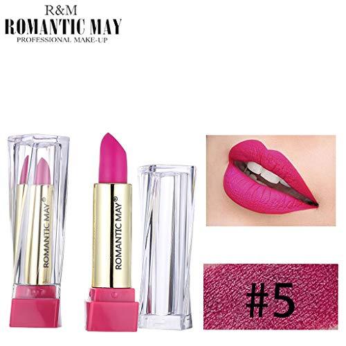 Puff Nail Art Rouge à lèvres Ombres à Paupières Beauté Outils Correcteur,Rouge à lèvres imperméable à l'eau cadeau de maquillage maquillage beauté cosmétique rouge durable