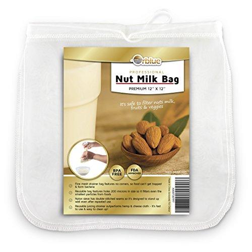 ORBLUE Sacchetto a Maglia Fine per Filtrare Latte Vegetale