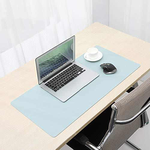 VIVOCFan PU-lederen bureaumuismat, geavanceerde gamingonderlegger, waterdicht, perfect dubbelzijdige schrijftafel pad, muismat voor toetsenbord, laptop, dun