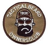 Dark blue sea Parches militares tácticos de barba dueños del club...