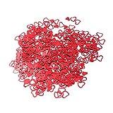 STOBOK 3000pcs Hermosa Glitter Forma de corazón Confeti Lentejuelas Boda Mesa de Fiesta de cumpleaños asperja decoración romántica decoración (Rojo)