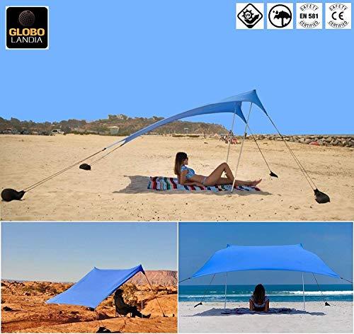 pensilina per ombrellone tettoia Parasole da 2,4 m T-XYD Ombrello da Spiaggia Portatile tendalino per Protezione Solare