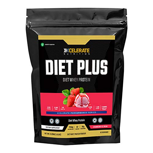 XCelerate Nutrition Diet Shake 2.25KG Powder Shakes for Weight Loss for Women Men Low Calories Sugar Whey Protein Ultralean Lean Meal Replacement Shake (Strawberry Cream)