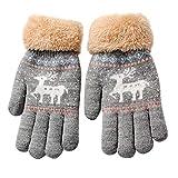 Strickhandschuhe Warme Handschuhe Hirolan Winterhandschuhe Kinderhandschuhe Sporthandschuhe Fingerhandschuhe Niedlich Verdicken Säugling Baby Mädchen Jungen Winter Warm Handschuhe