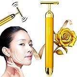 Barra de belleza de oro de 24 quilates, masajeador facial para el cuidado de la piel, magia en forma de V, reafirmante facial, arrugas, elimina los anillos en los ojos, antienvejecimiento