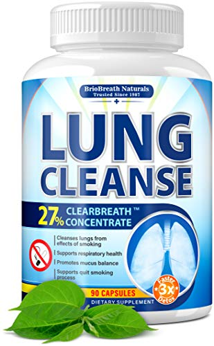 Lung Cleanse - Helps to Quit Smoking & Supports Respiratory Health - Effective Lung Detox - Made in USA - Lung Support, Asthma Relief, COPD Treatment, Allergy Relief - with Elecampane & Green Tea