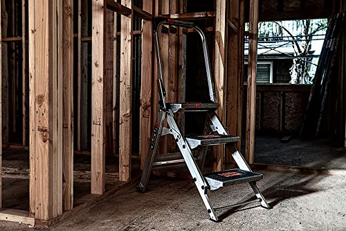 Little Giant, 3 step, Aluminum, 2-1/4 Feet, 300 lb. Capacity Stepladder