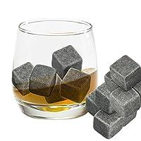Lot de 9 glaçons pierre pour le whisky. Ils remplacent les glaçons normaux dans votre verre de whisky et sont livrés avec une pochette de rangement. Les bords arrondis évitent de rayer le verre. Cadeau original et idéal pour vos proches. Parfait pour...