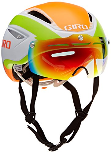 Giro 200114024_White/Lime/Flame_L - Casco da ciclismo Unisex, L, colore: Multicolore White/Lime/Flame