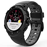 MyKronoz ZeSport2, Multisport GPS Smartwatch, 6 Axis Accelerometer, Swiss Design (Black/Grey)