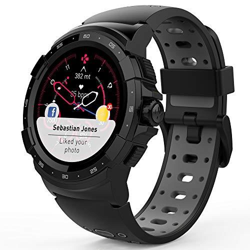 MyKronoz ZeSport2, Multisport GPS Smartwatch, 6 Axis Accelerometer, Swiss Design (Black/Grey)