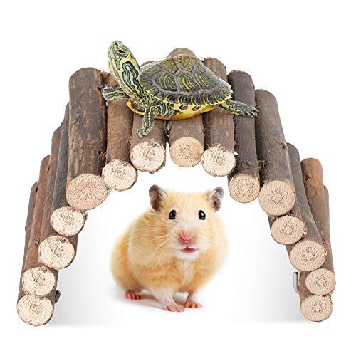 YOUTHINK Nagerbrücke Holz,10cm*22cm Leiter Brücke für Hamster Papagei Natur Holz Spielzeug