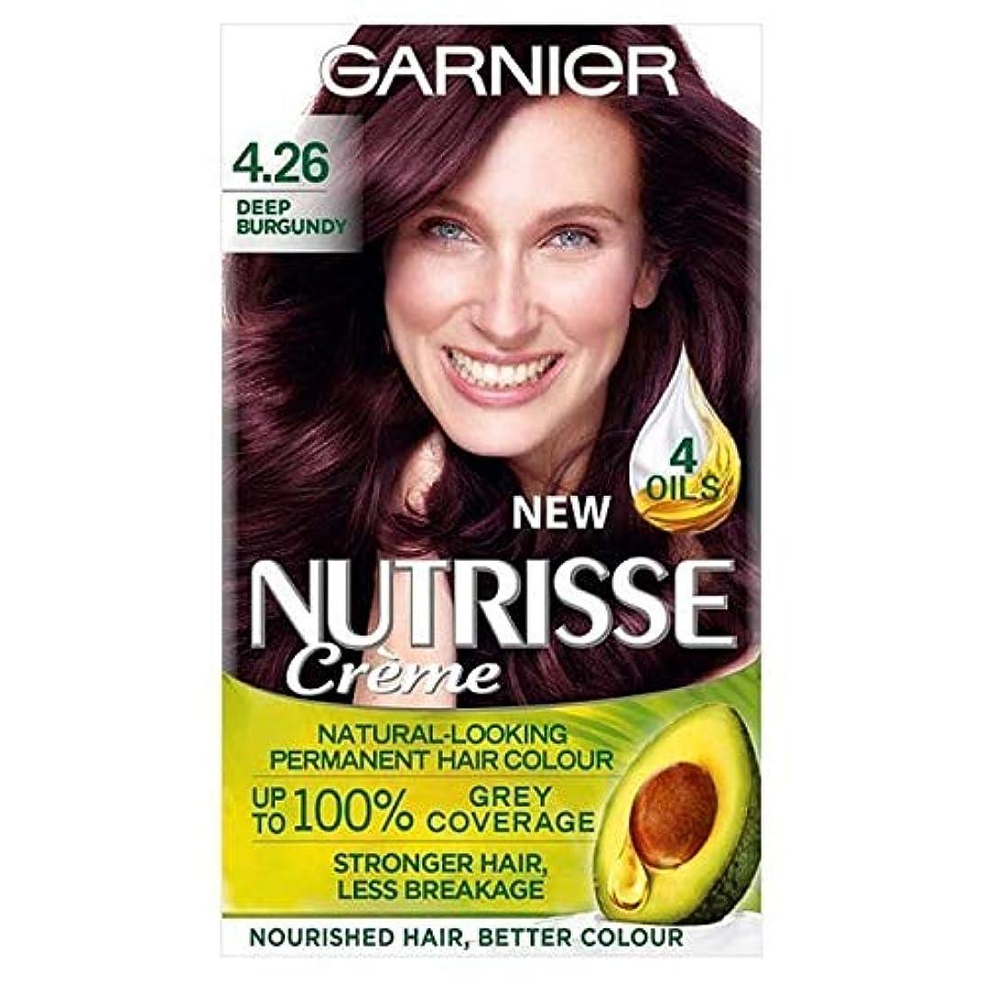 フライトそこからアマチュア[Garnier ] 赤ガルニエNutrisseパーマネントヘアダイ深いバーガンディ4.26 - Garnier Nutrisse Permanent Hair Dye Deep Burgundy Red 4.26 [並行輸入品]