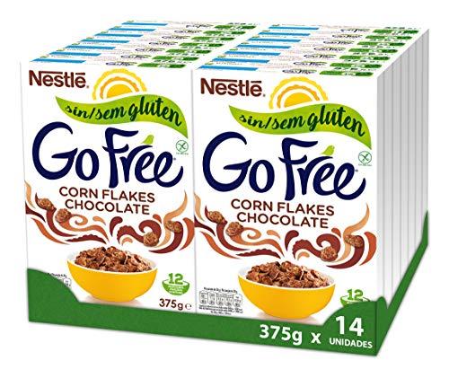 Nestlé Cereales Go Free Chocolate - 14 paquetes de 375g
