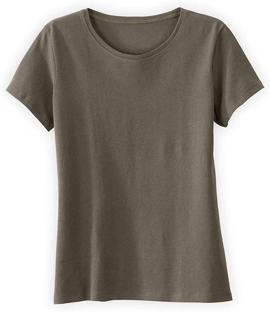 Fair Deluxe Indigo All stores are sold Women's Organic Cotton Neck Crew Relaxed T-Shirt