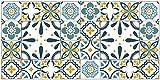 Deco&Fun - Alfombra Vinílica Hidráulica Porto Turquesa 70x140cm -Alfombra de Vinilo hidráulica - Alfombra Cocina hidráulica - Alfombras de Vinilo - Alfombras PVC