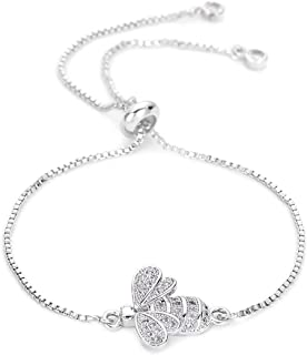 Cute Cubic Zirconia Bee Charm Bracelets for Women Gold Chain Crystal Bracelet Adjustable Animal Femme Jewelry Femme MBR180086