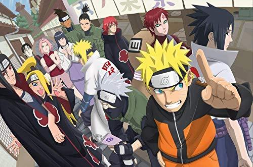 ZPDWT Puzzles 1000 Piezas-Póster Naruto Shippuden Anime-Juegos Educativos, Rompecabezas de Desafío Cerebral para Niños, Juguete De Regalo Ideal,50 × 75 cm