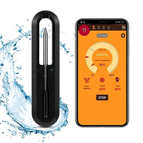 Bluetooth Wireless Grill Thermometer, Vogvigo Wireless Fleischthermometer, eine Vielzahl von Grillarten und Timing-Einstellungen, 33FT Wireless-Übertragungsentfernung