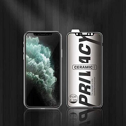 Protector de pantalla suave de cerámica para iPhone 11PROMAX/XSMAX 6/7/8/12/12PRO MAX para iPhone 11PRO/X/XS 12 Mini-IPHONE_12PROMAX_Hd_Negro