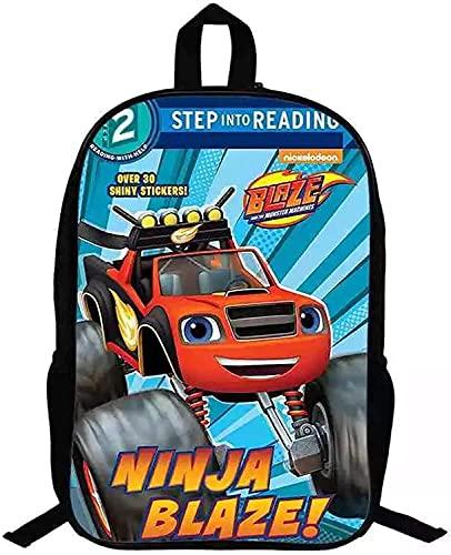 Bl-aze & The Mon-Ster Machines - Mochila escolar, diseño de dibujos animados, duradera, resistente al agua, ajustable, mochila escolar, 3, 28 * 14 * 40 cm (16 Zoll),