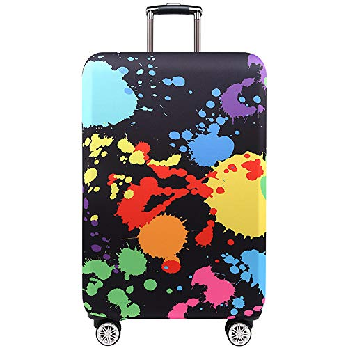 Travel Luggage Cover Travel Suitcase Protective Cover for Trunk Case Apply to 19''-32'' Suitcase Cover (T2089, M(23-26 inch luggage))