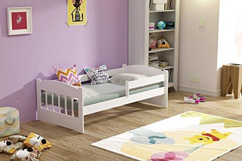 Lettino per bambini, 160x 80,con materasso, doghe in legno massello, lenzuolo con angoli elasticizzati